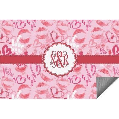 Lips n Hearts Indoor / Outdoor Rug (Personalized)