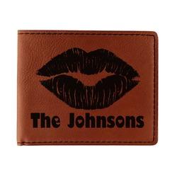 Lips n Hearts Leatherette Bifold Wallet (Personalized)