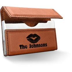 Lips n Hearts Leatherette Business Card Holder (Personalized)