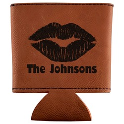 Lips n Hearts Leatherette Can Sleeve (Personalized)