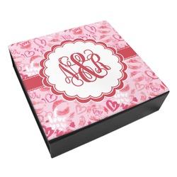 Lips n Hearts Leatherette Keepsake Box - 3 Sizes (Personalized)