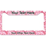 Lips n Hearts License Plate Frame (Personalized)