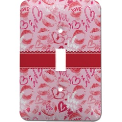 Lips n Hearts Light Switch Cover (Single Toggle) (Personalized)
