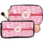 Lips n Hearts Makeup / Cosmetic Bag (Personalized)