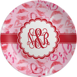 """Lips n Hearts Melamine Plate - 8"""" (Personalized)"""
