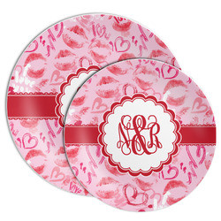 Lips n Hearts Melamine Plate (Personalized)