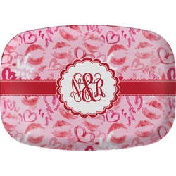 Lips n Hearts Melamine Platter (Personalized)