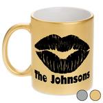 Lips n Hearts Metallic Mug (Personalized)