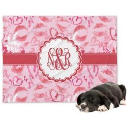 Lips n Hearts Minky Dog Blanket (Personalized)