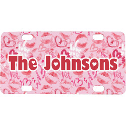 Lips n Hearts Mini / Bicycle License Plate (Personalized)