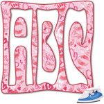 Lips n Hearts Monogram Iron On Transfer (Personalized)