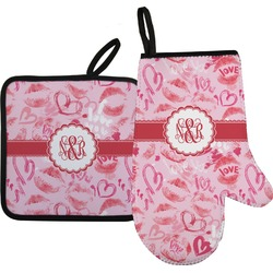 Lips n Hearts Oven Mitt & Pot Holder (Personalized)