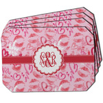 Lips n Hearts Dining Table Mat - Octagon w/ Couple's Names