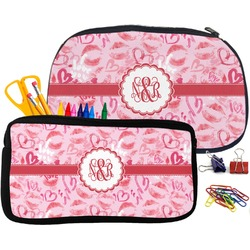 Lips n Hearts Pencil / School Supplies Bag (Personalized)