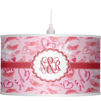 Lips n Hearts Drum Pendant Lamp (Personalized)
