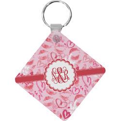 Lips n Hearts Diamond Key Chain (Personalized)