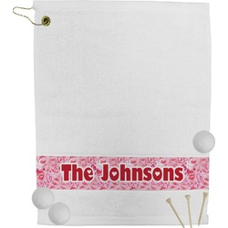 Lips n Hearts Golf Towel (Personalized)