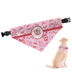 Lips n Hearts Dog Bandana (Personalized)