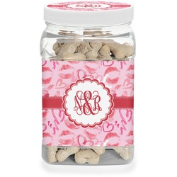 Lips n Hearts Pet Treat Jar (Personalized)