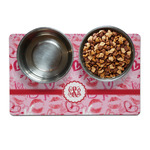 Lips n Hearts Dog Food Mat (Personalized)