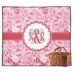 Lips n Hearts Outdoor Picnic Blanket (Personalized)