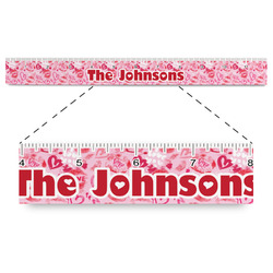 """Lips n Hearts Plastic Ruler - 12"""" (Personalized)"""