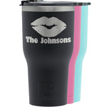 Lips n Hearts RTIC Tumbler - Black (Personalized)