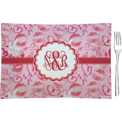 Lips n Hearts Rectangular Appetizer / Dessert Plate (Personalized)
