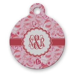 Lips n Hearts Round Pet Tag (Personalized)