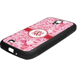 Lips n Hearts Rubber Samsung Galaxy 4 Phone Case (Personalized)