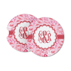 Lips n Hearts Sandstone Car Coasters (Personalized)