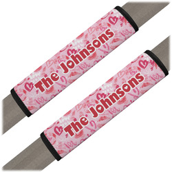 Lips n Hearts Seat Belt Covers (Set of 2) (Personalized)