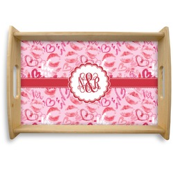 Lips n Hearts Natural Wooden Tray (Personalized)