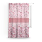 Lips n Hearts Sheer Curtains (Personalized)
