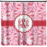 Lips n Hearts Shower Curtain (Personalized)