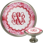 Lips n Hearts Cabinet Knob (Silver) (Personalized)
