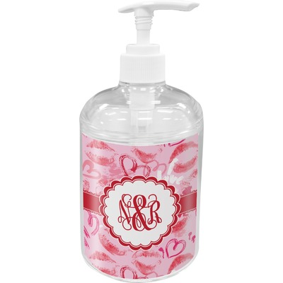 Lips n Hearts Acrylic Soap & Lotion Bottle (Personalized)