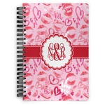 Lips n Hearts Spiral Bound Notebook (Personalized)