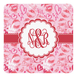 Lips n Hearts Square Decal - Medium (Personalized)
