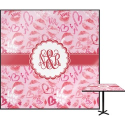 Lips n Hearts Square Table Top (Personalized)