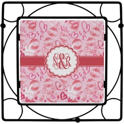 Lips n Hearts Square Trivet (Personalized)