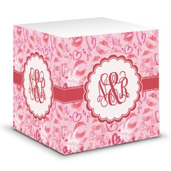 Lips n Hearts Sticky Note Cube (Personalized)