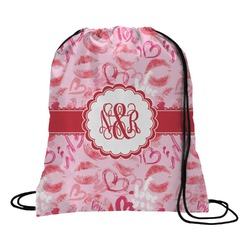 Lips n Hearts Drawstring Backpack (Personalized)