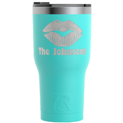 Lips n Hearts RTIC Tumbler - Teal (Personalized)