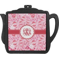 Lips n Hearts Teapot Trivet (Personalized)