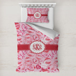 Lips n Hearts Toddler Bedding w/ Couple's Names