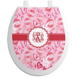 Lips n Hearts Toilet Seat Decal (Personalized)
