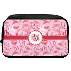 Lips n Hearts Toiletry Bag / Dopp Kit (Personalized)