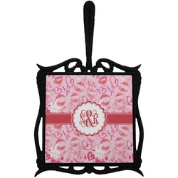 Lips n Hearts Trivet with Handle (Personalized)
