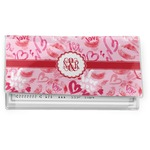 Lips n Hearts Vinyl Checkbook Cover (Personalized)